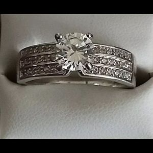 Jewelry - Sterling Silver Promise, Wedding Ring 2 Ct  9.5